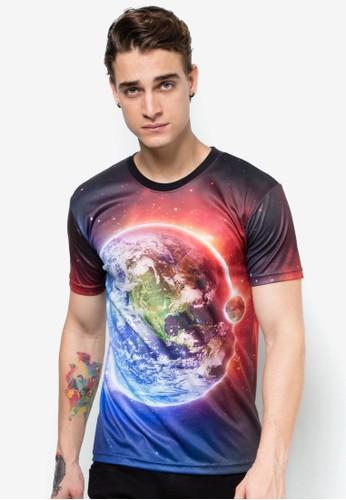地球印esprit outlet 高雄花TEE, 服飾, 印圖T恤