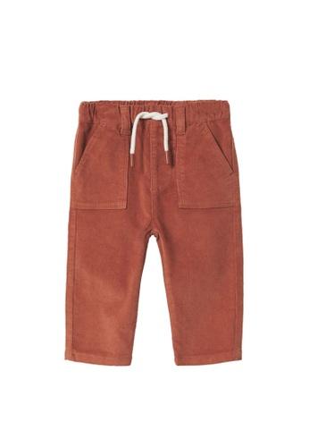 MANGO BABY orange Corduroy Trousers C29ECKA120D19AGS_1