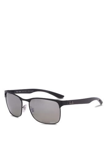 Ray-Ban black RB8319CH Polarized Sunglasses RA896GL0RZ5HMY_1