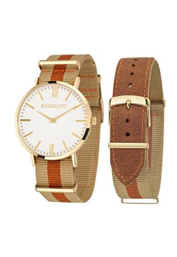 Morellato beige Vela Quartz Watch R0151134002 Beige and Brown Leather Strap AB373ACA6ECC06GS_1