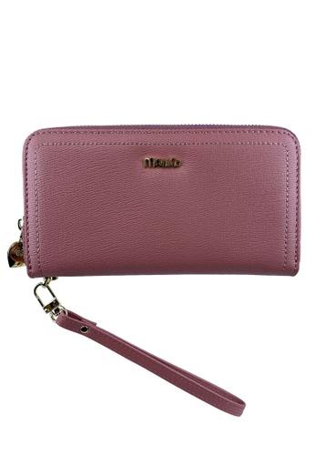 Mel&Co pink Zip Around Long Wallet Clutch 22F2DAC3CF68B9GS_1