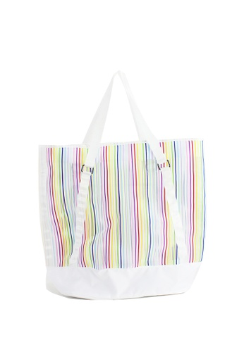 London Rag multi WomenMulti Color Stripe Tote Bag BG5129 869C3ACAD22AC1GS_1