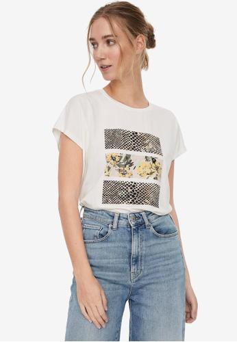 Vero Moda white Giaava Short Sleeves T-Shirt 6B010AA73F977CGS_1