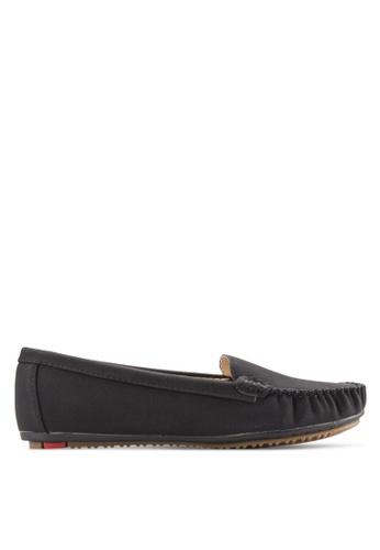 Noveni black Stitch Detail Loafers NO978SH52EOLMY_1