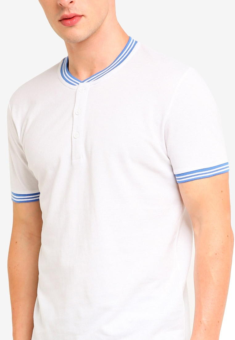 Short White Shirt ESPRIT Polo Sleeve rzqYr