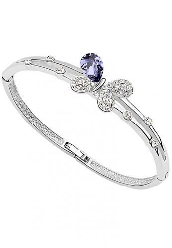 LOVENGIFTS purple LOVENGIFTS Butterfly Charm Bangle (Purple) 19235ACFE1933FGS_1