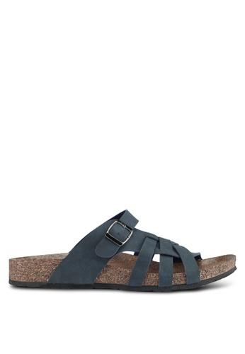 Bata blue Bata Cutout Buckle Strap Sandals 54E83SHF6593DAGS_1
