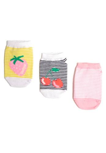 KOTON white Multi Print Socks CCE46KAD52B249GS_1
