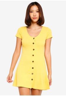 cff1c4e2fb Short Sleeve Knit Button Dress 1F935AA33B0D37GS 1