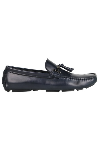 Tomaz blue Tomaz C004A Buckled Tassel Loafers (NAVY) 68F52SH0D69C67GS_1