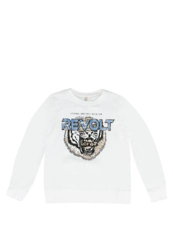 ONLY white Konlucinda Life Sweatshirt F8CFAKA27B06F5GS_1