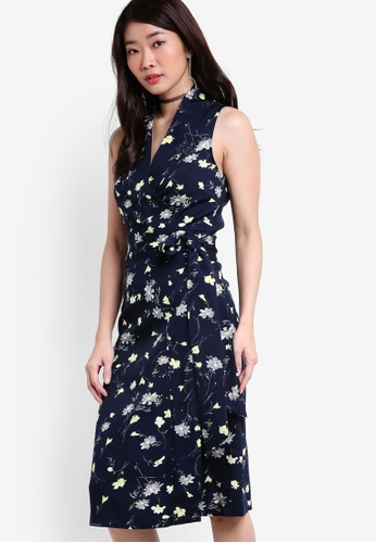 ZALORA navy Collection Wrapped Dress 3B551AAB2AC382GS_1