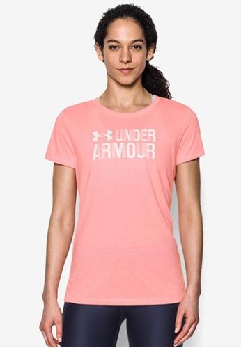 Under Armour pink Threadborne SSC Twist Graph Top UN337AA0SB3FMY_1