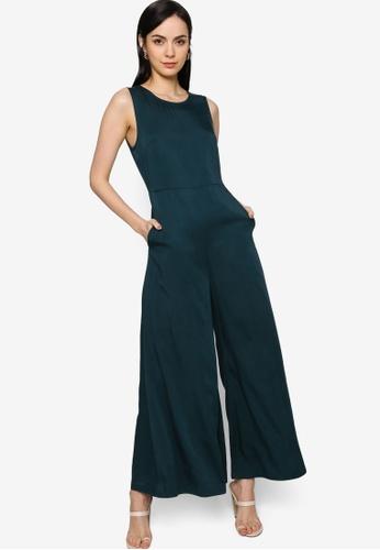 Origin by Zalora blue Wide Leg Jumpsuit made from TENCEL™ D4109AA2A82569GS_1