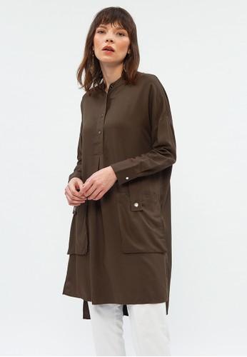 Minimal black Cargo Poc Shirt Dress DB793AAD07322BGS_1
