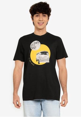 Springfield black Urban T-Shirt 62B9EAA524A6CCGS_1