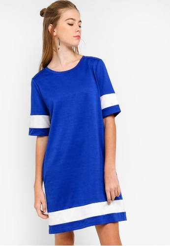 Something Borrowed blue Colorblock T-Shirt Dress C3217AAC52A5D9GS_1