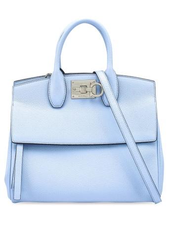 Ferragamo blue Small Studio Bag (zt) B1BE5ACACCCE51GS_1