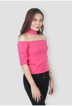 Andie Choker Off Shoulder Top