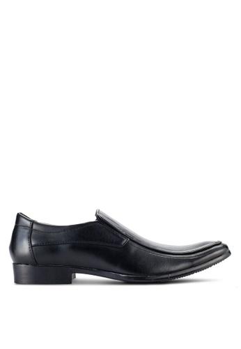 UniqTee black Slip On Derby Shoes UN097SH89NQKMY_1