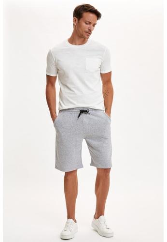 DeFacto grey Slim Fit Sweatshirt Bermuda Shorts A35B8AA3BC4330GS_1