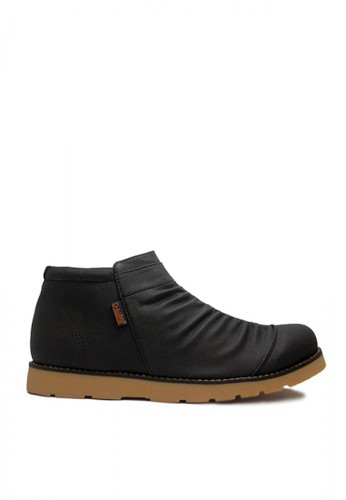 D-Island black D-Island Shoes Boots Slip On Zipper Wrinkle Leather Black DI594SH02OBHID_1