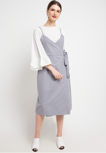 Seven Level grey Naomi Dress 98A92AA19303F5GS_1