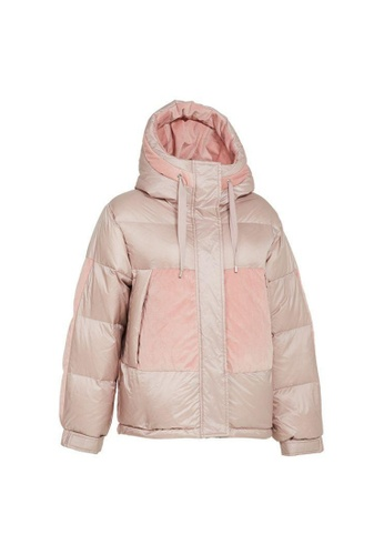 Universal Traveller pink Universal Traveller Short Trendy Down Jacket With Contrast Fabric - DJW 9054 D2AD2AA3B68F1AGS_1