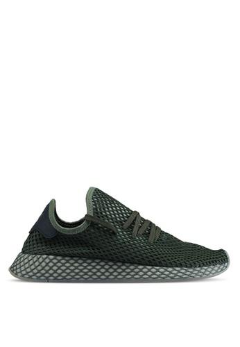 adidas green adidas originals deerupt runner sneakers 97EE1SH240CF48GS_1