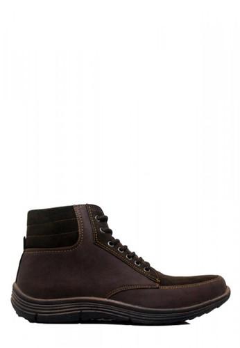 D-Island brown D-Island Shoes Kets High Handsome Dark Brown A1052SH1E24359GS_1