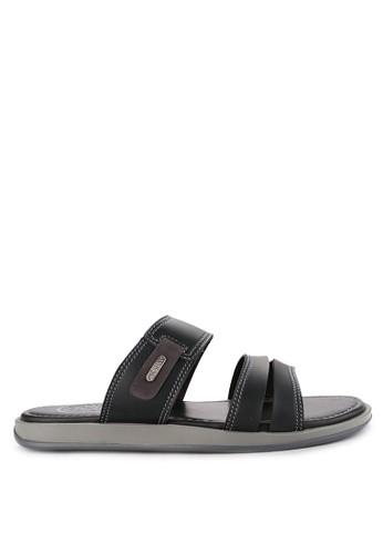Pakalolo Boots black Two Strap Sandal 1D279SHC482050GS_1