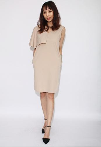 Seoul in Love beige Beona Dress in Beige 3E2B4AA6C41C62GS_1