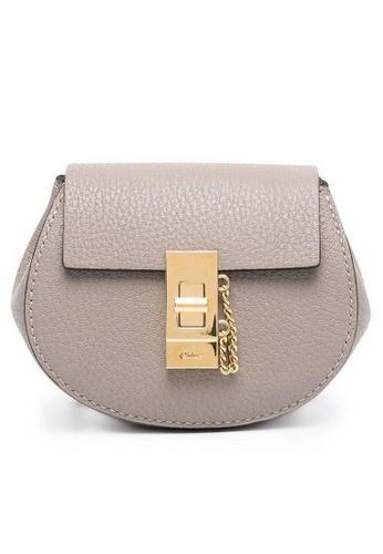 Chloé grey Chloe Mini Drew Crossbody Bag in Motty Gray 4314BACF250172GS_1