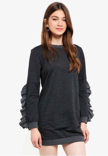 Something Borrowed grey Raw Edge Sweater Dress A2549AA5B99592GS_1