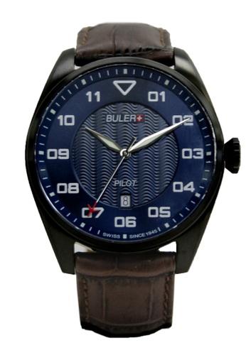 Buler black and blue Buler Sport Watch - Blue - Gents - Date- 3H BU689AC2VG1EHK_1
