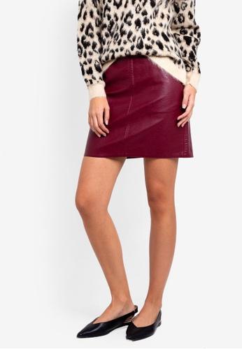2df411d40 Buy Dorothy Perkins Burgundy Pocket Pu Mini Skirt   ZALORA HK