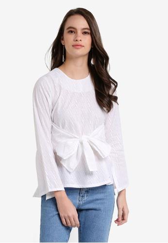 Seleksi Akma white Embroidery Knot Top SE519AA0RDATMY_1
