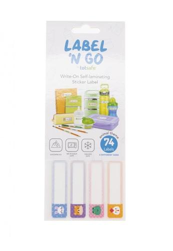 Totsafe multi Totsafe Label N Go Self Laminating Label Stickers - Kawaii Animals 74s 69A96HL1BD23B9GS_1