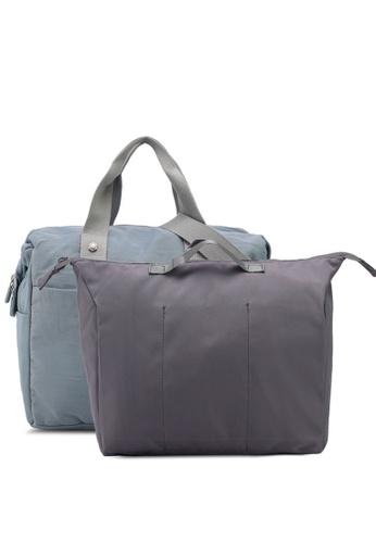 Bagstationz blue Water Resistant Travel Bag Set AA9AEAC88530ADGS_1