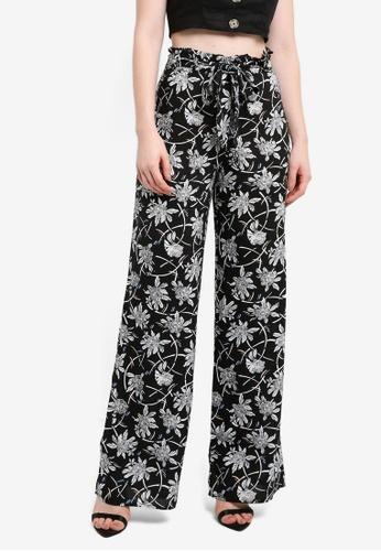 Miss Selfridge black Tula Twirl Wide Leg Trousers 806CDAAB991C11GS_1