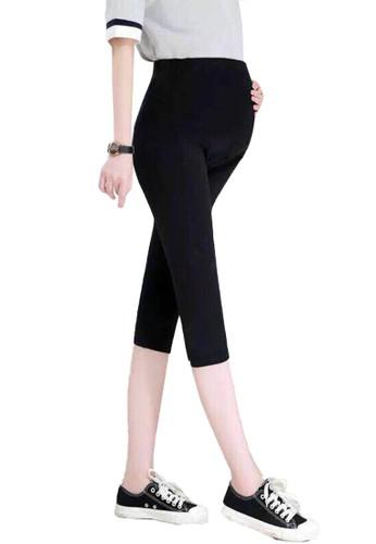 Chelyne black Chelyne Legging Hamil 3/4 - H7150 Knee Length Maternity Legging 99468AAD78049DGS_1