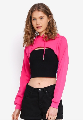 Factorie pink Extreme Crop Hoodie 0E673AAB818BA2GS_1