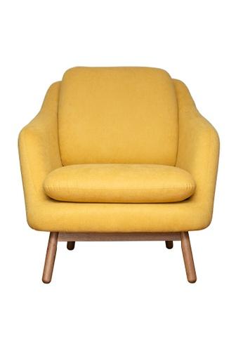 Joy Design Studio Anna Armchair Sofa Yellow Mustard Color 39AA1HL090F954GS_1