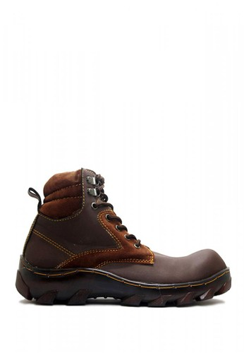 D-Island brown D-Island Shoes Safety Boots Cross Iron Drak Brown DI594SH0VAUZID_1