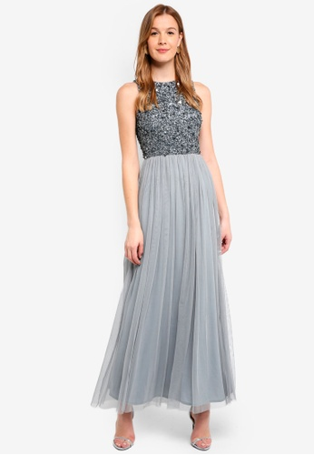 Lace & Beads grey Picasso Maxi Dress D1713AA745AC5DGS_1