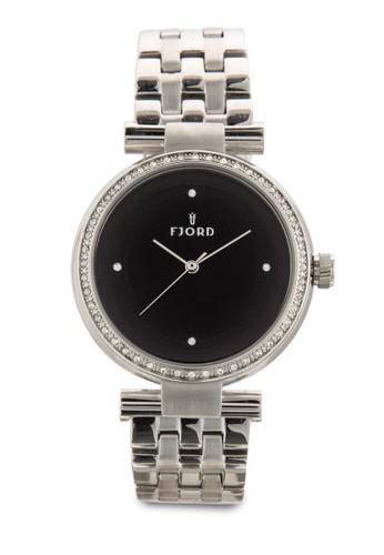 Niklaas 不esprit服飾銹鋼水晶圓錶, 錶類, 飾品配件