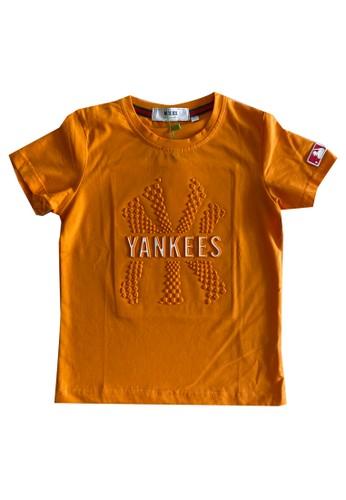 Moejoe orange MOEJOE Yankees Printed Tee - Yellow CD55CKAB315909GS_1
