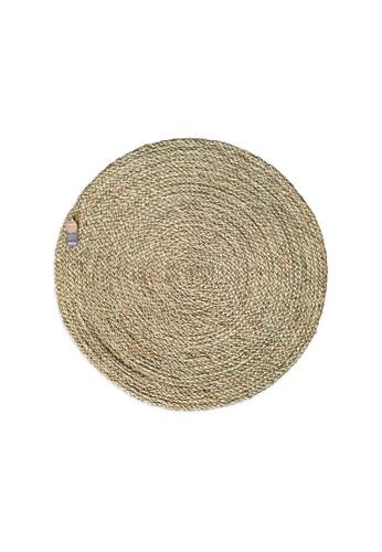 HOUZE ecoHOUZE Seagrass Round Rug - 90cm (Large) 8CF91HL1ACCE9FGS_1