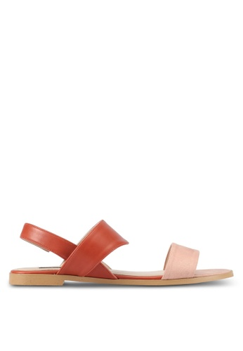 ZALORA red Sling Back Sandals 4409BSH2069F64GS_1