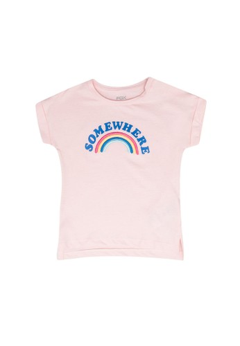 FOX Kids & Baby pink Baby Girl Graphic Short Sleeve Tee D5DD9KA4989915GS_1